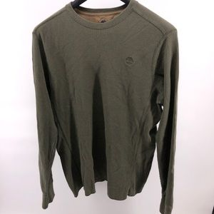 Timberland Thermal Olive Green Waffle Knit Shirt